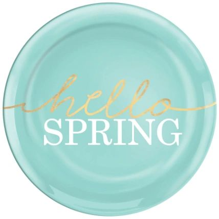 "Hello Spring Coupe Plates, 7 1/2"" - 4ct"