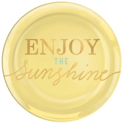 "Enjoy the Sunshine Coupe Plates, 7 1/2"" - 4ct"