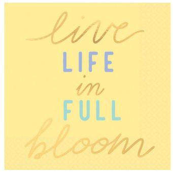 Live Life In Full Bloom Beverage Napkins, 16ct
