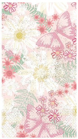 Guest Towel - Spring Butterflies, 16ct