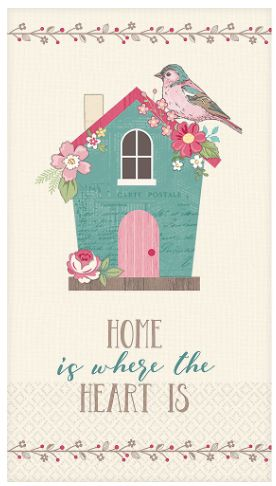 Guest Towel - Home Is Where The Heart Is, 16ct