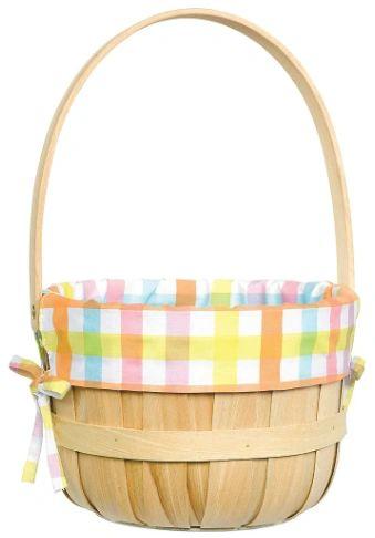 Round Basket w/Liner - Pink