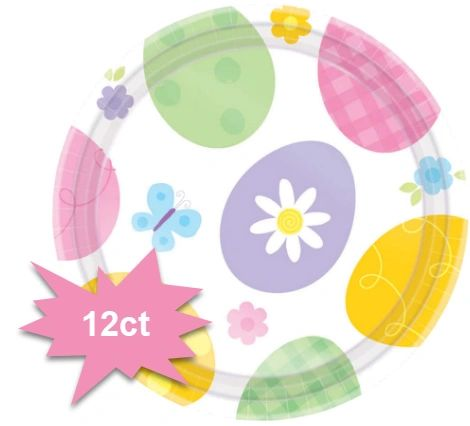 """Eggstravaganza Dessert Plates, 7"""" - 12ct"""