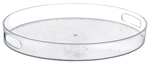 Hammered Clear Round Tray