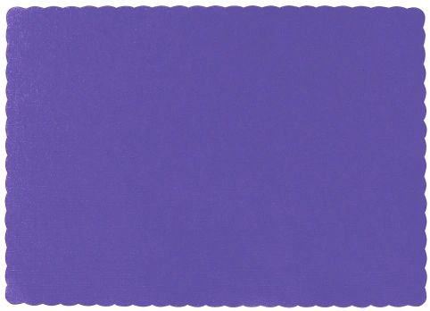 Big Party Pack New Purple Paper Placemats 50ct