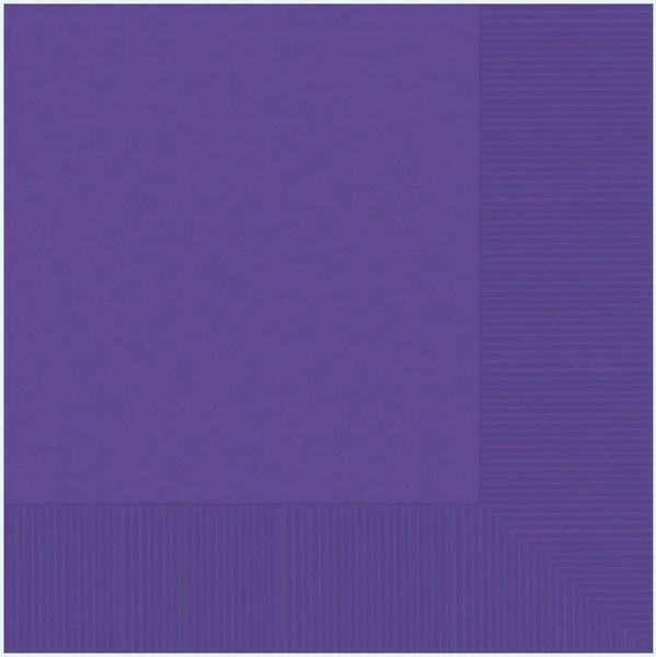 Purple 2-Ply Luncheon Napkins, 50ct