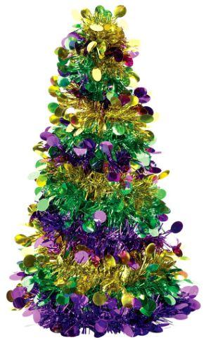 Mardi Gras Tinsel Tree