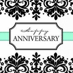 Always & Forever Anniversary Beverage Napkins, 16ct