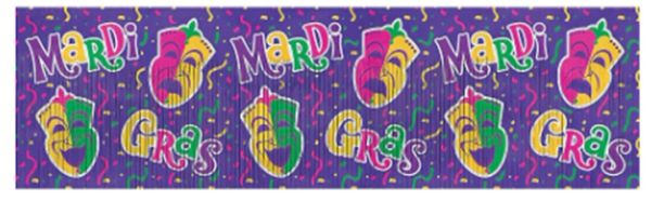 Mardi Gras Metallic Banner, 4ft
