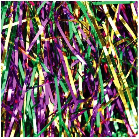 Mardi Gras Confetti Shred - Purple, Green & Gold, 2oz