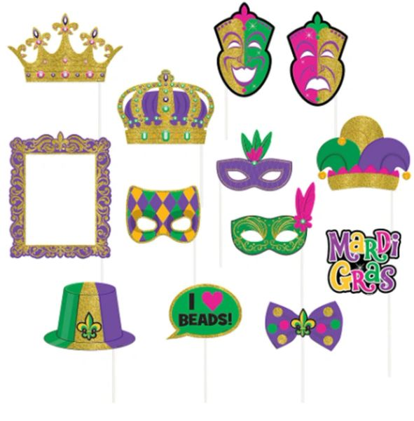 Mardi Gras Photo Prop Kit, 13ct