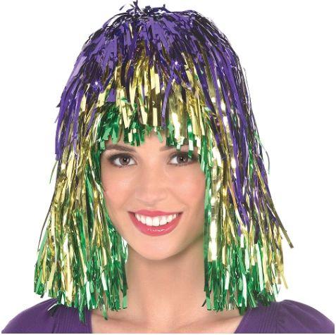 Mardi Gras Wig - Tinsel - Multi
