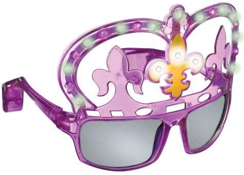 Mardi Gras Light-Up Glasses UV 400