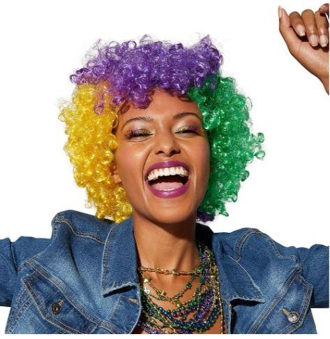 Mardi Gras Afro Wig