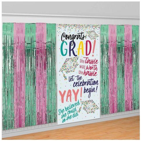 Yay Grad Fringe & Scene Setters® Combo Backdrop