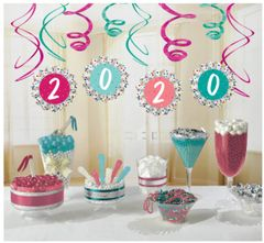 """2020"" Grad Fan And Swirl Decorating Kit, 12pc"