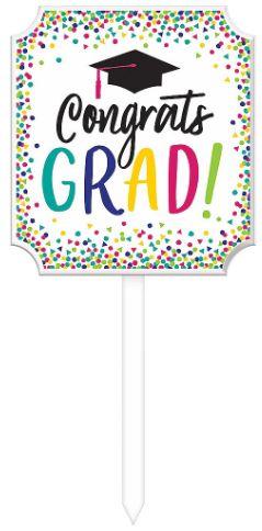 Yay Grad Lawn Sign
