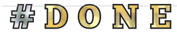 #DONE Foil Letter Banner, 12ft