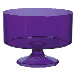 Small New Purple Plastic Trifle Container