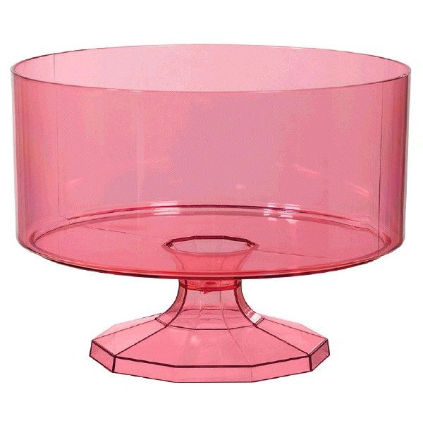 Small New Pink Trifle Container
