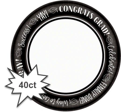 "Celebrate Success Round Plates, 10"" - 40ct"