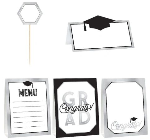 Grad Grid Mini Buffet Decorating Kit, 12pc