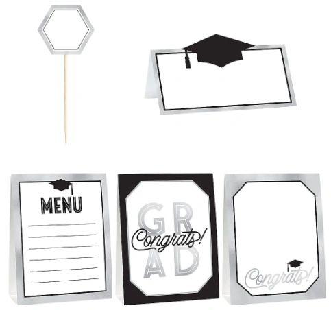 Grad Grid Mini Buffet Decorating Kit, 12pc