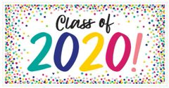 """2020"" Yay Grad Large Horizontal Banner"