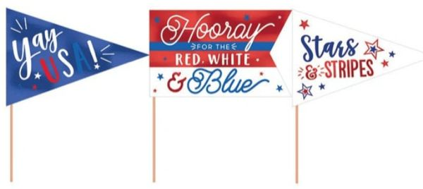 Patriotic Mini Pennants, 6ct