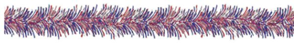 Patriotic Value Tinsel Garland, 9ft