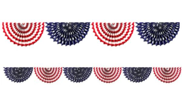 Patriotic Fan Bunting Garland