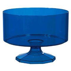 Large Royal Blue Plastic Trifle Bowl & Pedestal