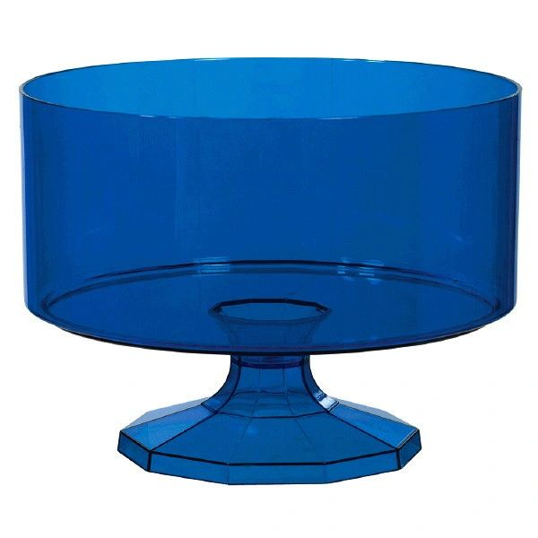 Royal Blue Trifle Container, Medium, 80oz