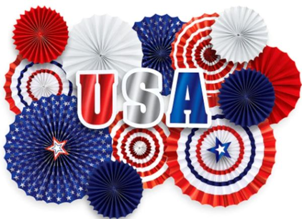 Patriotic Fan Decorating Kit, 17pc