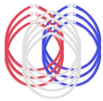 Patriotic Long Glow Sticks, 10ct