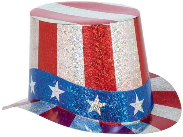 Patriotic Prismatic Paper Top Hat