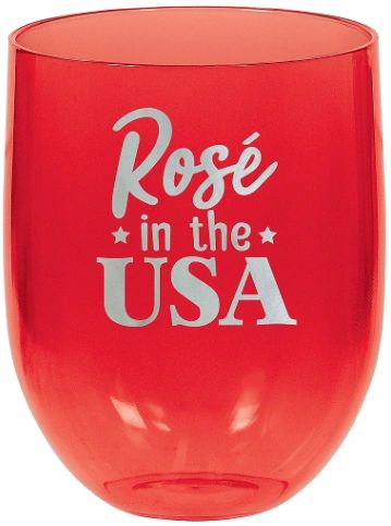 Patriotic Stemless Wine Glasses, 15.2oz