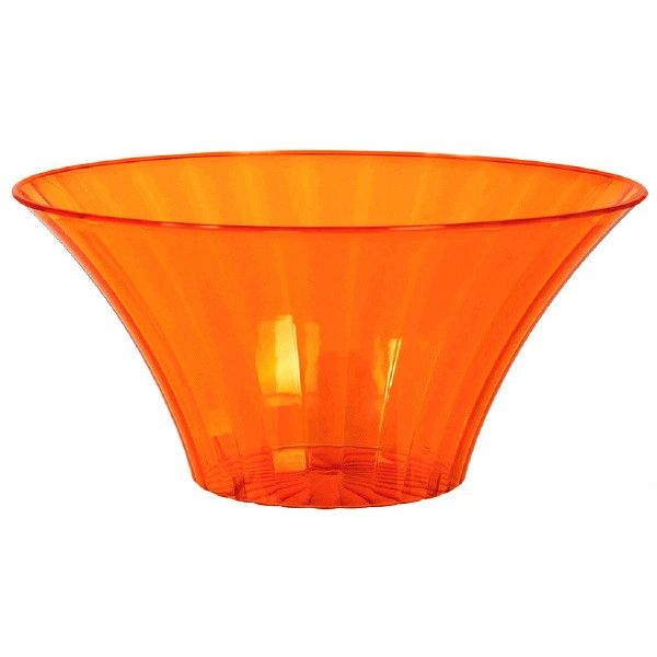 Small Orange Flared Bowl