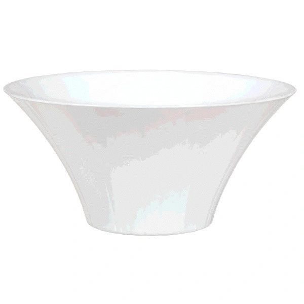 Small White Plastic Flared Bowl