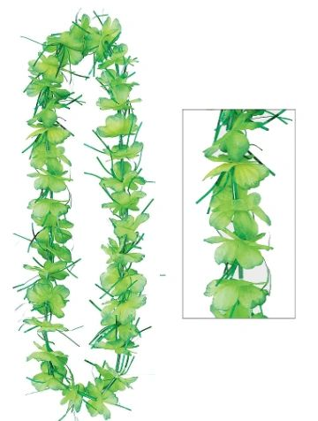Green Tinsel Lei, 40""