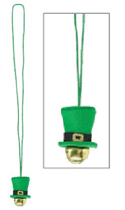 St. Patrick's Day Bell Necklace, 37""