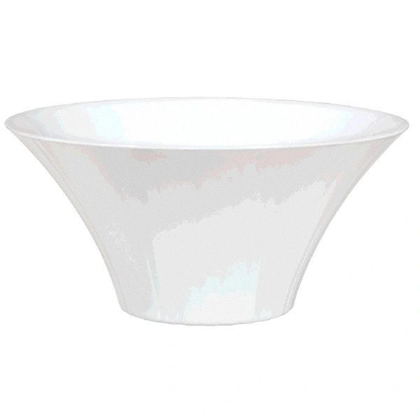 Large White Plastic Flared Bowl