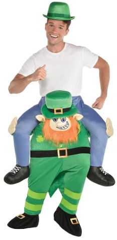 Leprechaun Piggy Back Ride-On Costume - Adult Unisex Standard