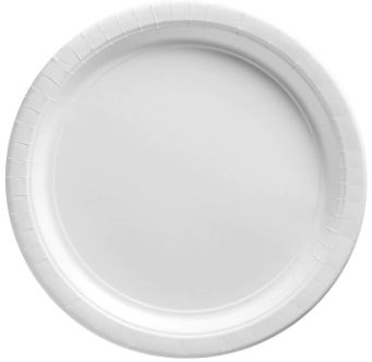 "Frosty White Dessert Plates, 7"" - 20ct"