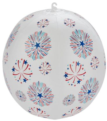 Red White & Blue Glow Beach Ball, 10""
