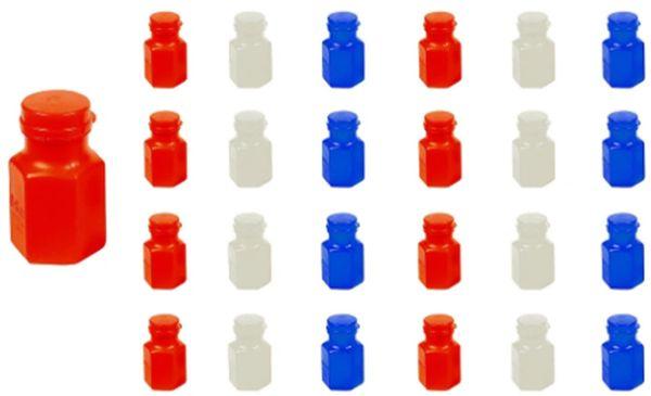 Red/White/Blue Bubbles Favors, 24ct