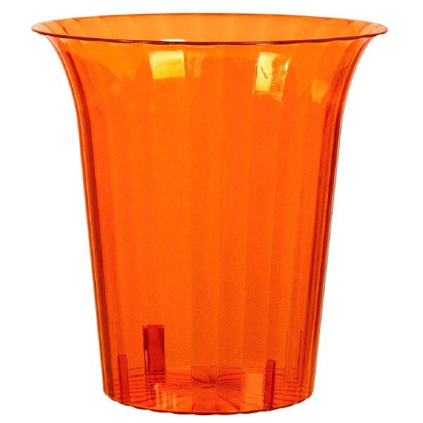 Orange Plastic Flared Cylinder Container