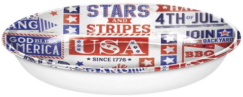 Patriotic Plastic Bowl