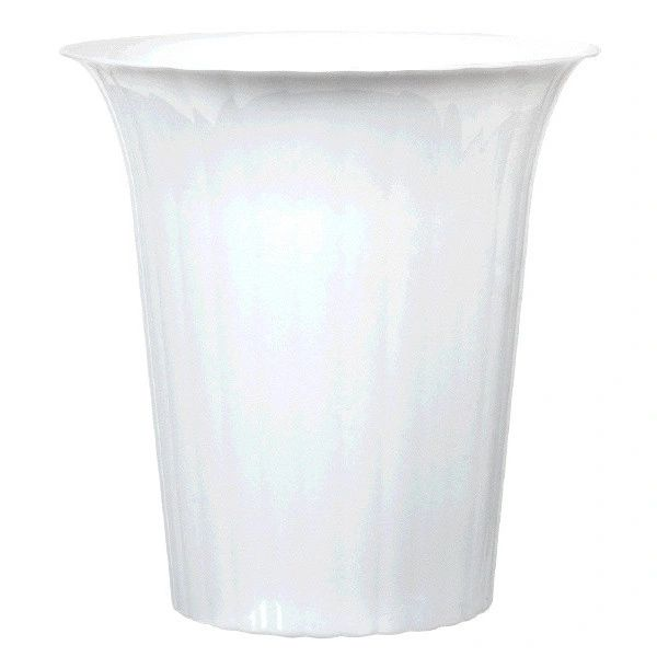 White Plastic Flared Cylinder Container