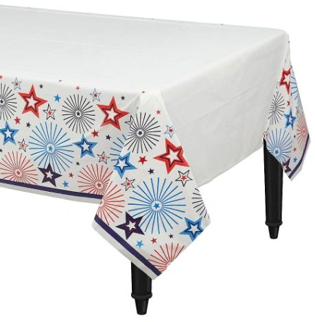 Happy Fourth Plastic Table Cover